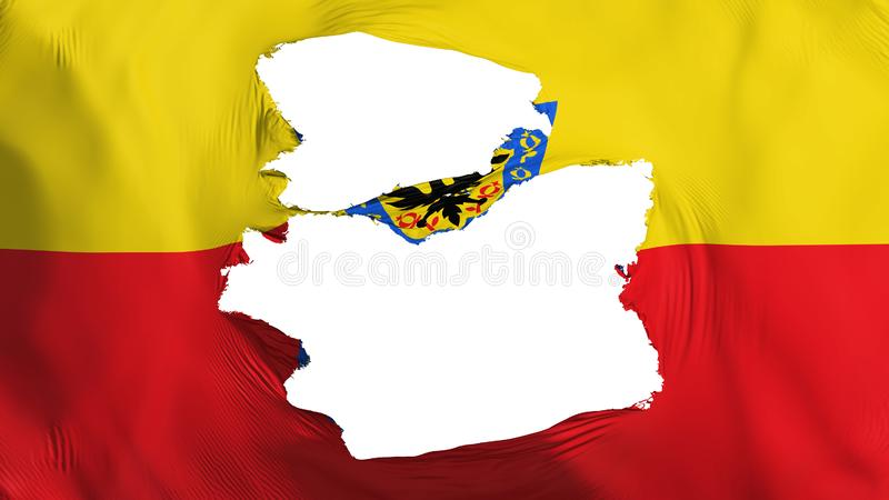 Bandeira esfarrapada de Bogotá ilustração do vetor