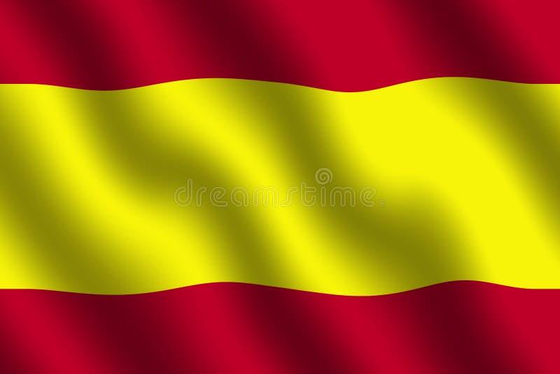 Bandeira espanhola ilustração royalty free