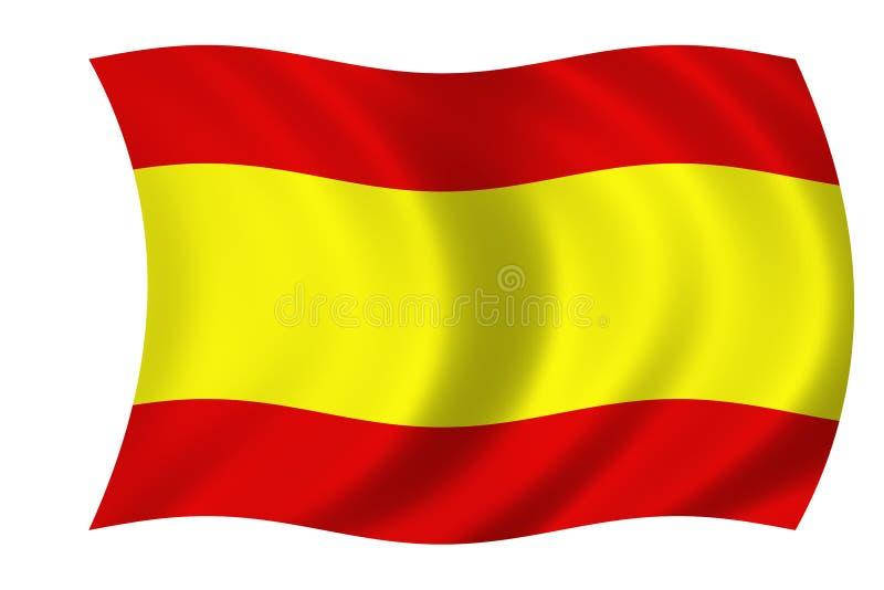 Bandeira espanhola ilustração do vetor