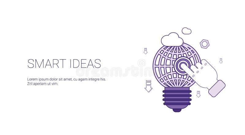 Bandeira esperta da Web da ideia com conceito criativo do desenvolvimento do negócio do espaço da cópia ilustração royalty free