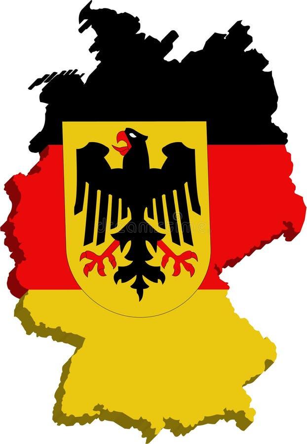 Bandeira estilizado de Alemanha ilustração stock