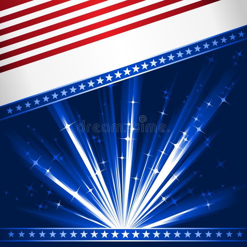 Bandeira estilizado dos EUA ilustração royalty free