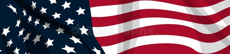 Bandeira EUA ilustração royalty free