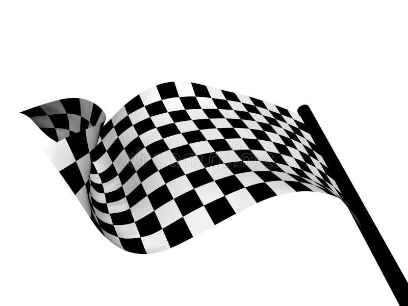 Bandeira F1 ilustração do vetor