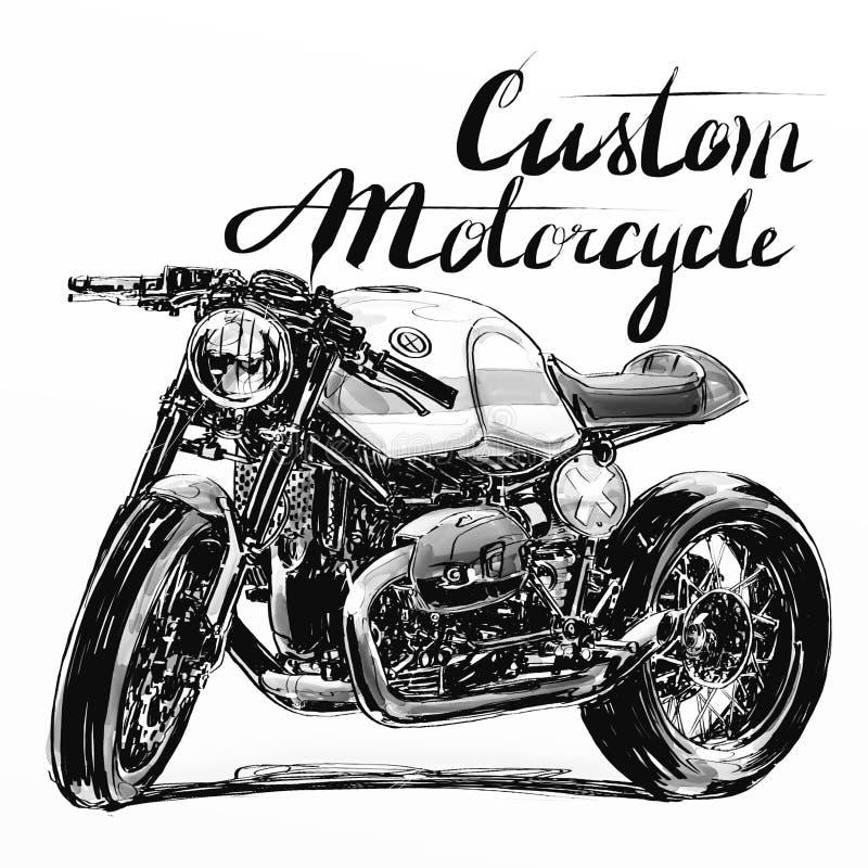 Bandeira feita sob encomenda da motocicleta fotografia de stock royalty free