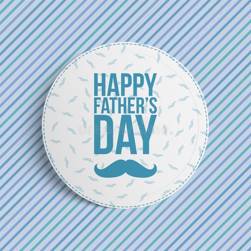 Bandeira feliz do círculo do dia de pais ilustração royalty free