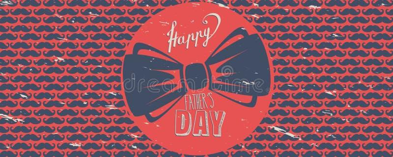 Bandeira feliz do dia do ` s do pai ilustração royalty free