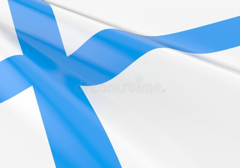 Bandeira finlandesa de ondulação ilustração royalty free
