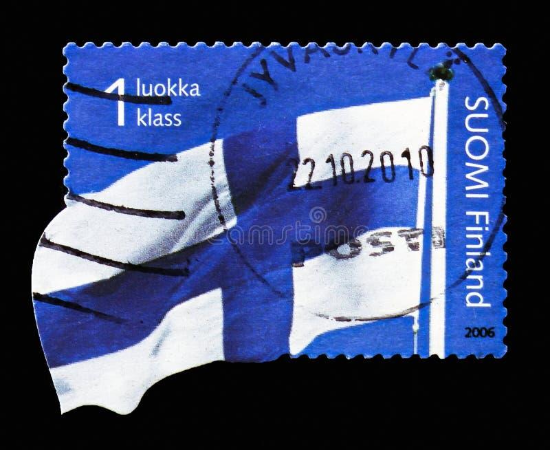 Bandeira finlandesa, serie, cerca de 2006 foto de stock