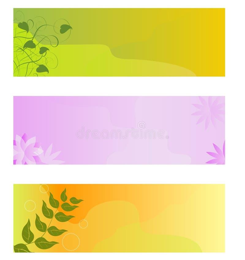 Bandeira floral ilustração do vetor