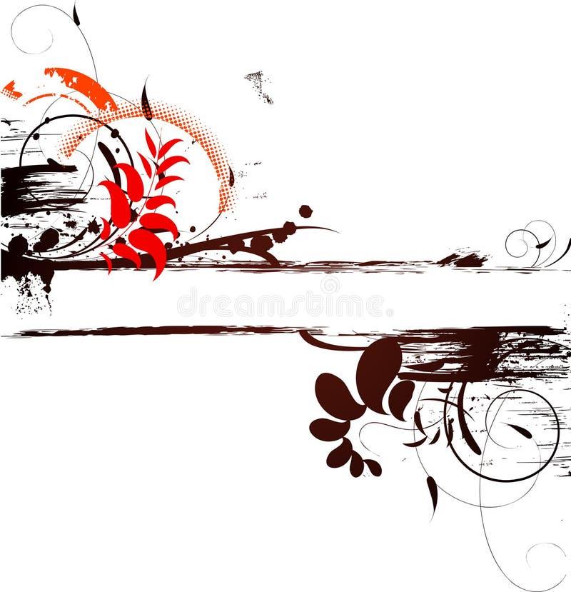 Bandeira floral abstrata ilustração stock