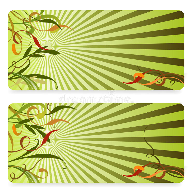 Bandeira floral com lugar para o texto ilustração royalty free