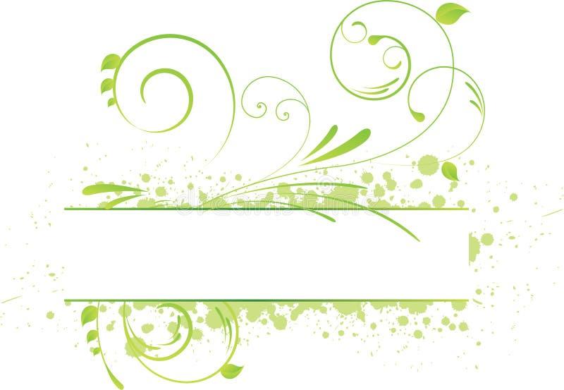 Bandeira floral de Grunge ilustração royalty free