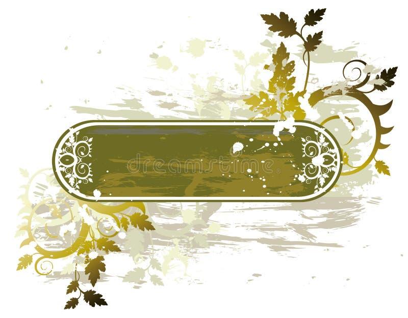 Bandeira floral de Grunge ilustração stock