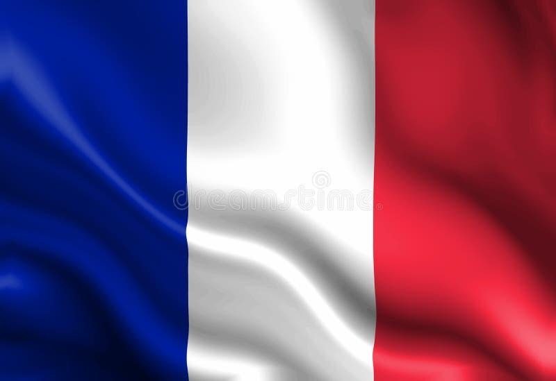 Bandeira francesa ilustração stock