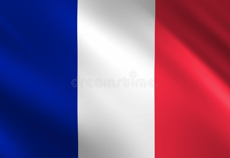 Bandeira francesa ilustração do vetor