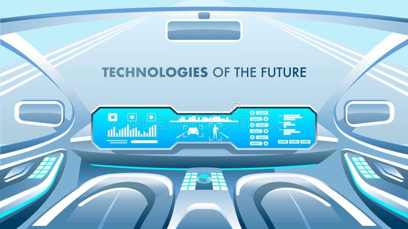 Bandeira futura das tecnologias Ilustração do vetor ilustração stock