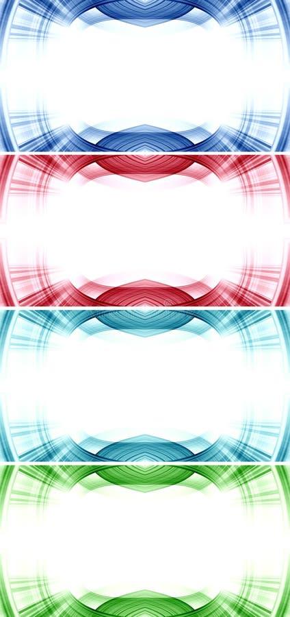 Bandeira futurista moderna da Web ilustração do vetor