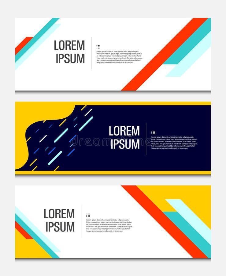 Bandeira geométrica colorida O líquido dá forma à composição Molde moderno do vetor ilustração do vetor