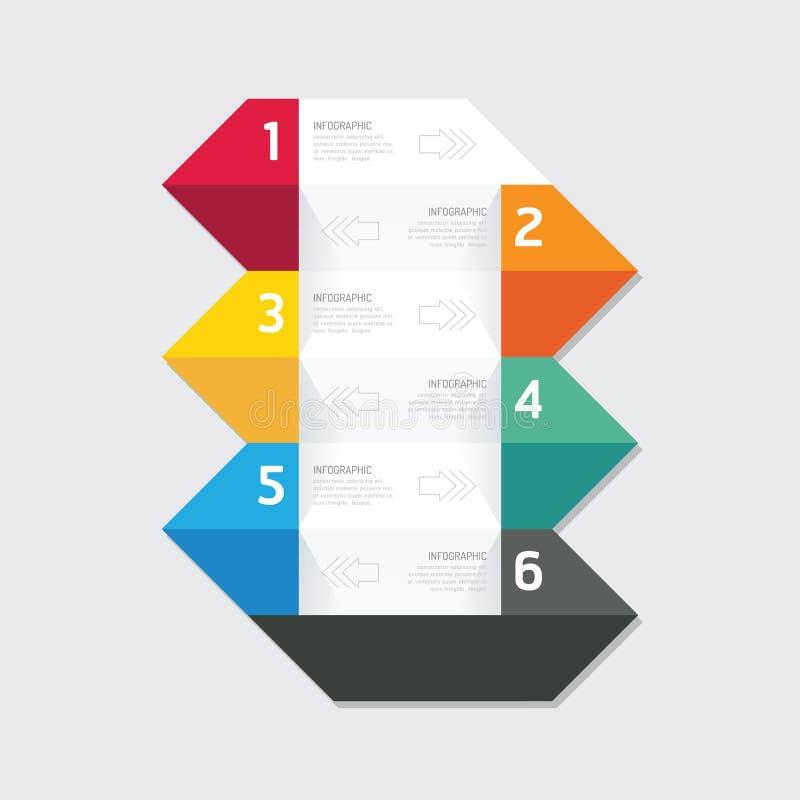 Bandeira geométrica das opções modernas do projeto do infographics Illu do vetor ilustração do vetor