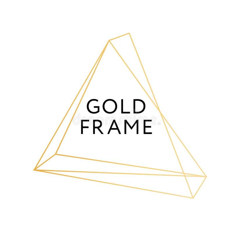 Bandeira geométrica do projeto do vetor do minimalismo da forma do quadro do ouro ilustração royalty free