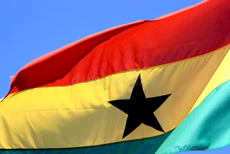 Bandeira Ghanese de voo imagem de stock