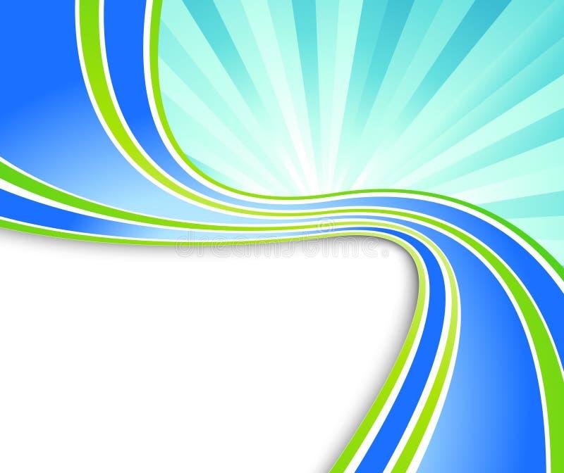 Bandeira green-blue da onda da ecologia ilustração stock