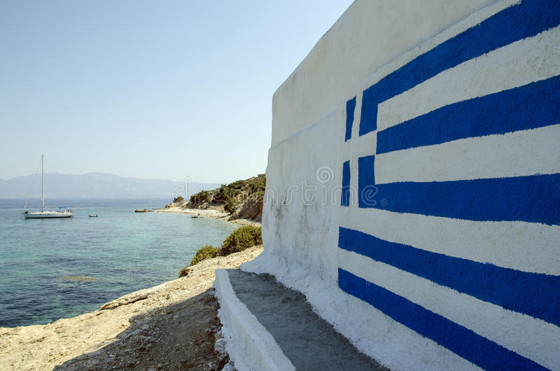 Bandeira grega foto de stock
