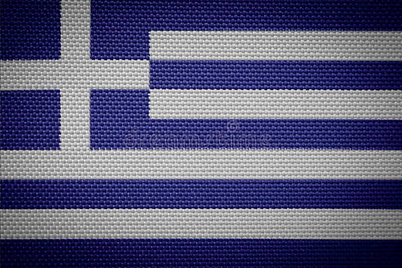 Bandeira grega da tela imagem de stock royalty free