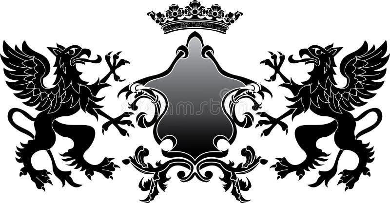 Bandeira heráldica do grifo ilustração royalty free