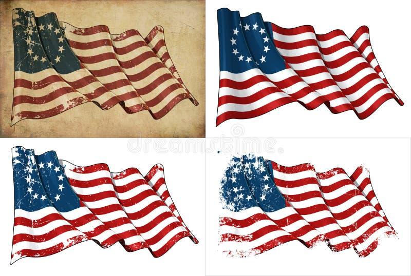 Bandeira histórica dos EUA Betsy Ross