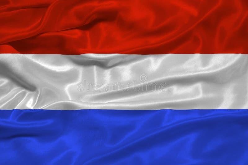 Bandeira holandesa 3 ilustração royalty free