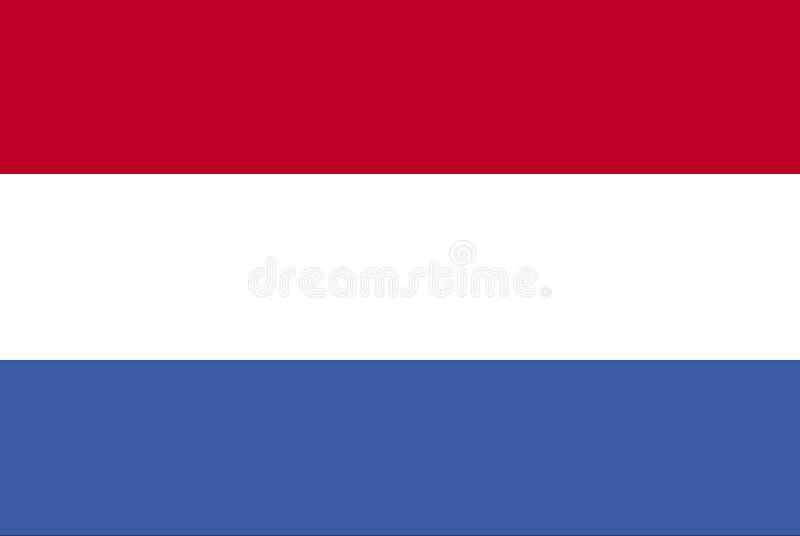 Bandeira holandesa ilustração royalty free