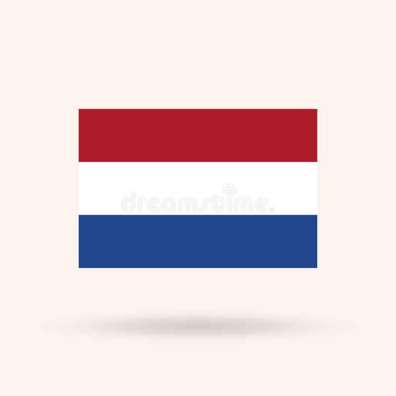Bandeira holandesa ilustração do vetor