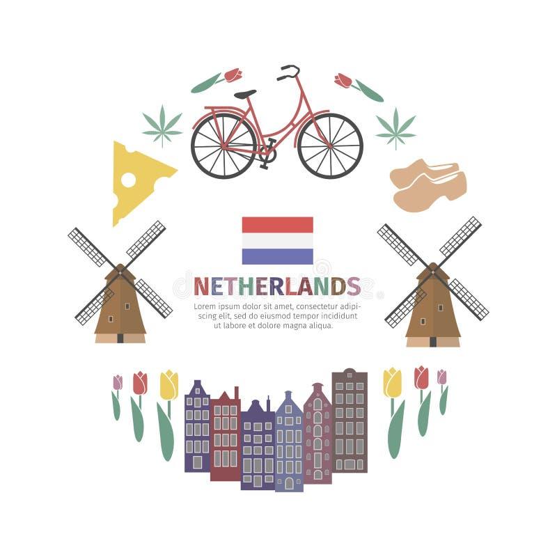 Bandeira holandesa da Web ilustração stock