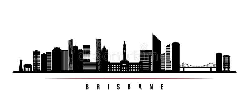 Bandeira horizontal da skyline da cidade de Brisbane ilustração stock