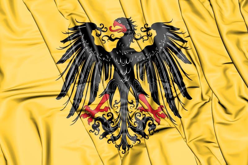 Bandeira imperial de Roman Emperor santamente antes de 1433 ilustração 3D ilustração royalty free