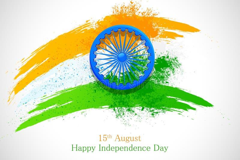 Bandeira indiana suja ilustração royalty free