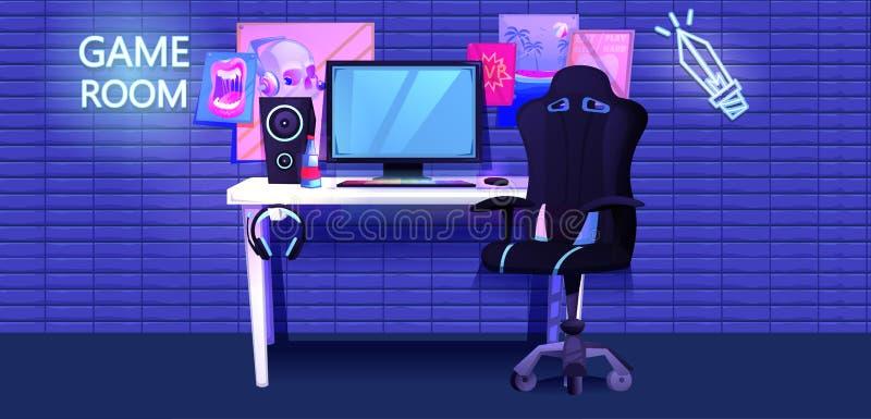 Bandeira interior de ESports Gamer do desportista do cyber do local de trabalho ilustração stock