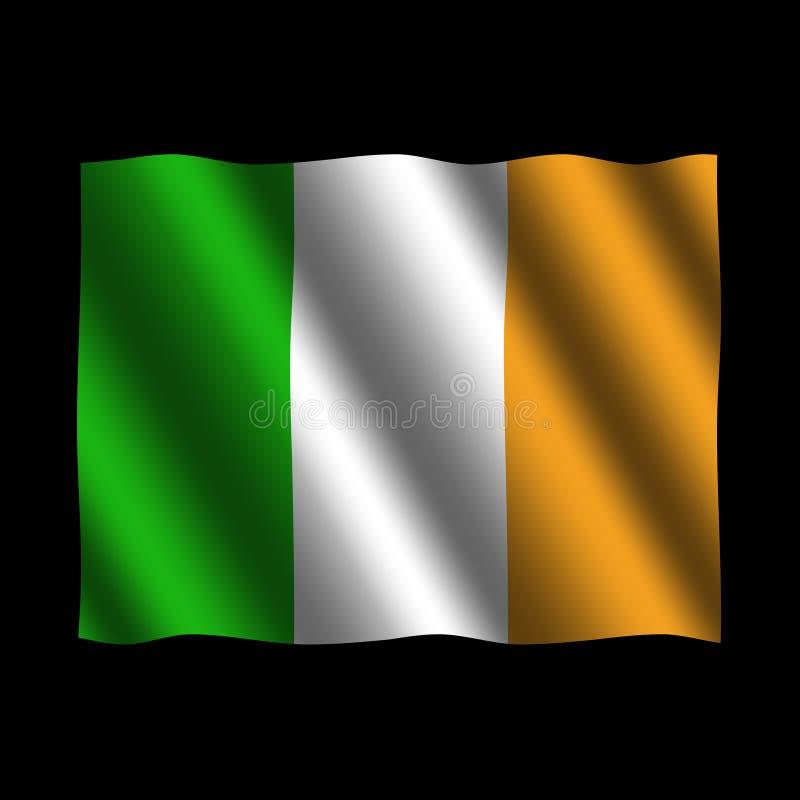 Bandeira irlandesa com ilustração das ondinhas ilustração stock