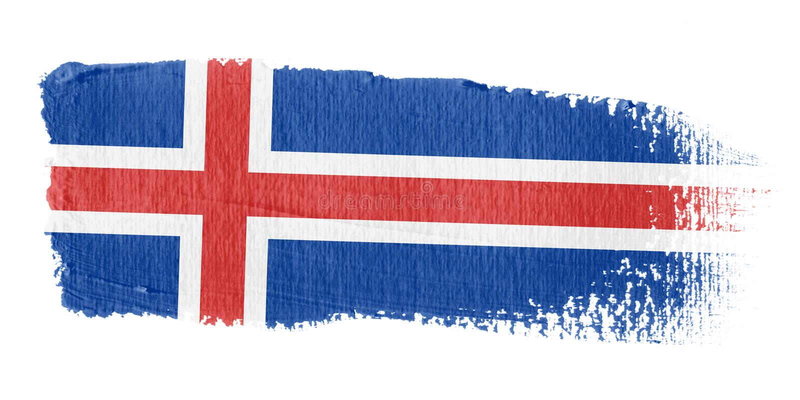 Bandeira Islândia do Brushstroke ilustração royalty free