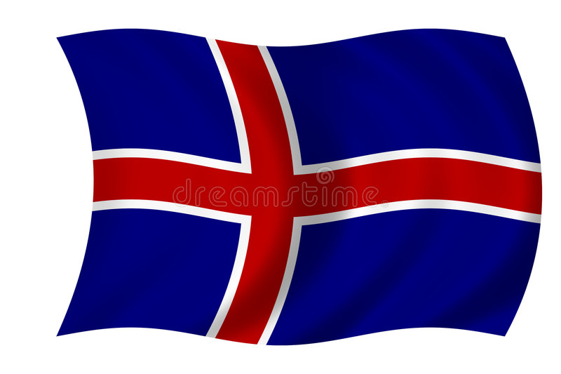 Bandeira islandêsa ilustração do vetor