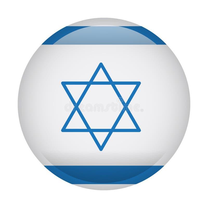 Bandeira isolada de Israel ilustração do vetor