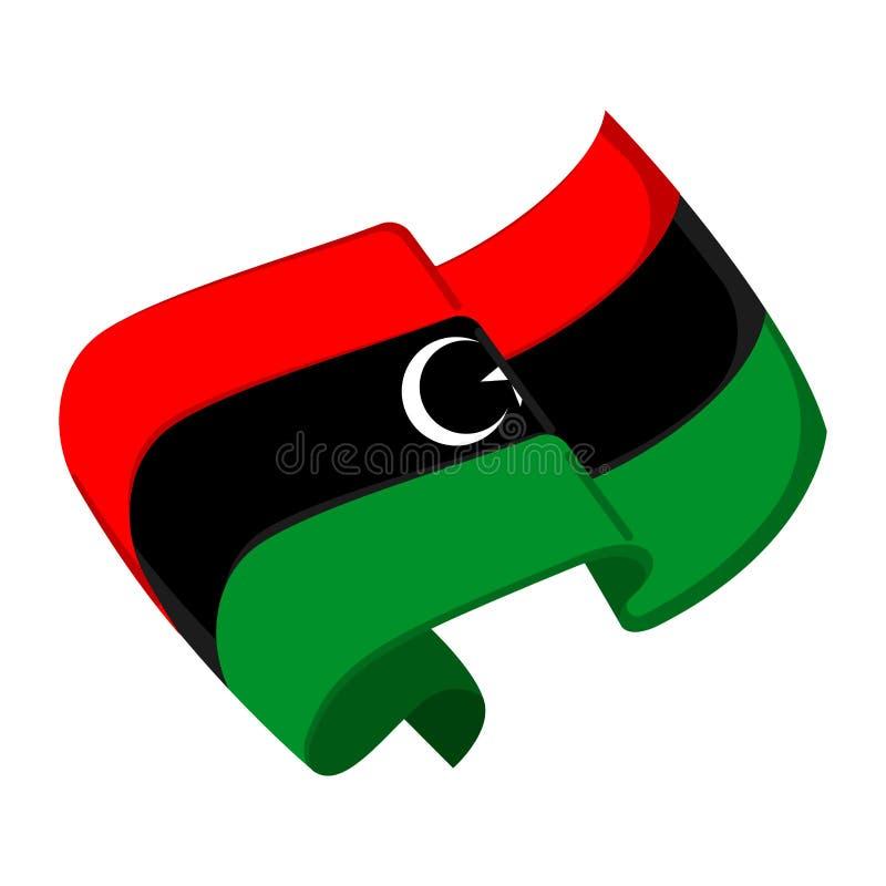 Bandeira isolada de Líbia ilustração royalty free
