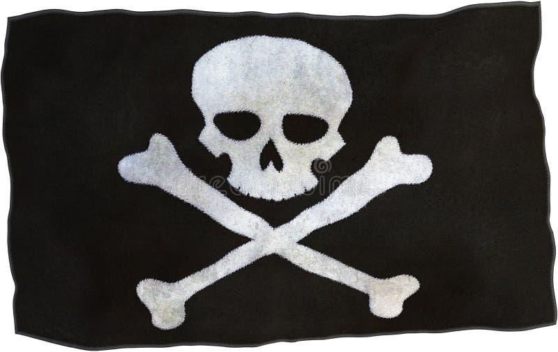 Bandeira isolada, perigo de pano do pirata fotos de stock