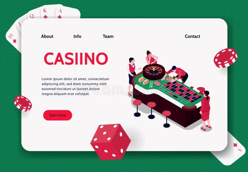 Bandeira isométrica do conceito do casino ilustração do vetor