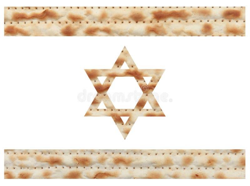 Bandeira israelita feita com textura do Matzo ilustração do vetor