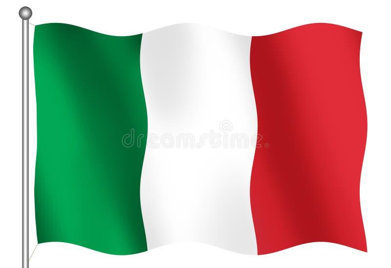 Bandeira italiana ilustração do vetor
