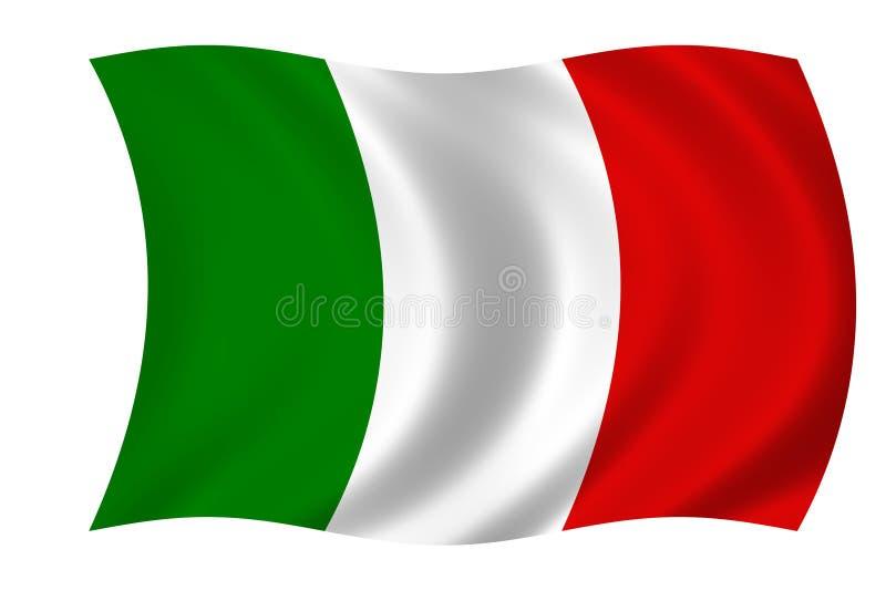 bandeira italiana ilustração royalty free