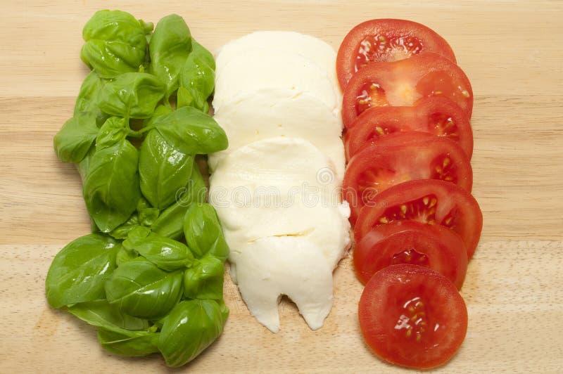 Bandeira italiana fresca do alimento fotos de stock